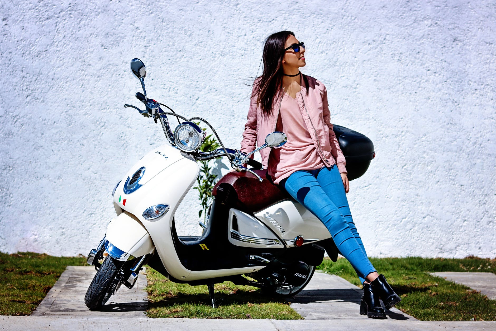 Low Price Scooty with beautifull girl