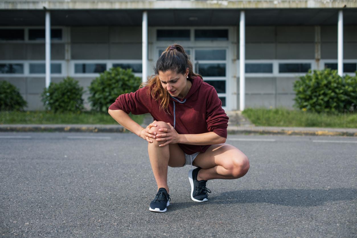 Runnin knee injury